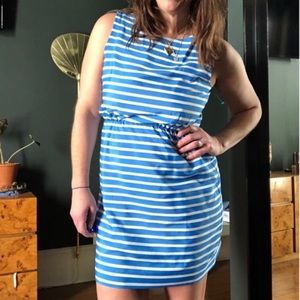 Gap Blue and White Stripped Mini Dress
